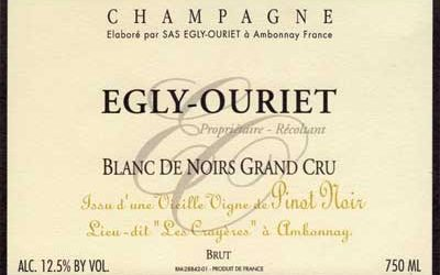 Egly-Ouriet 'Crayeres' the Pinnacle of Blanc de Noirs