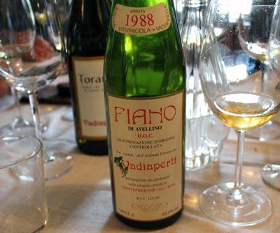 High Praise for Vadiaperti's 2014 Fiano d'Avellino