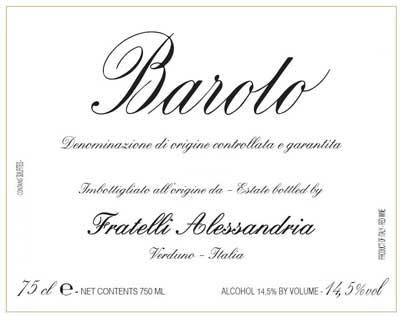 Vinous Praises 2013 Fratelli Alessandria Barolo