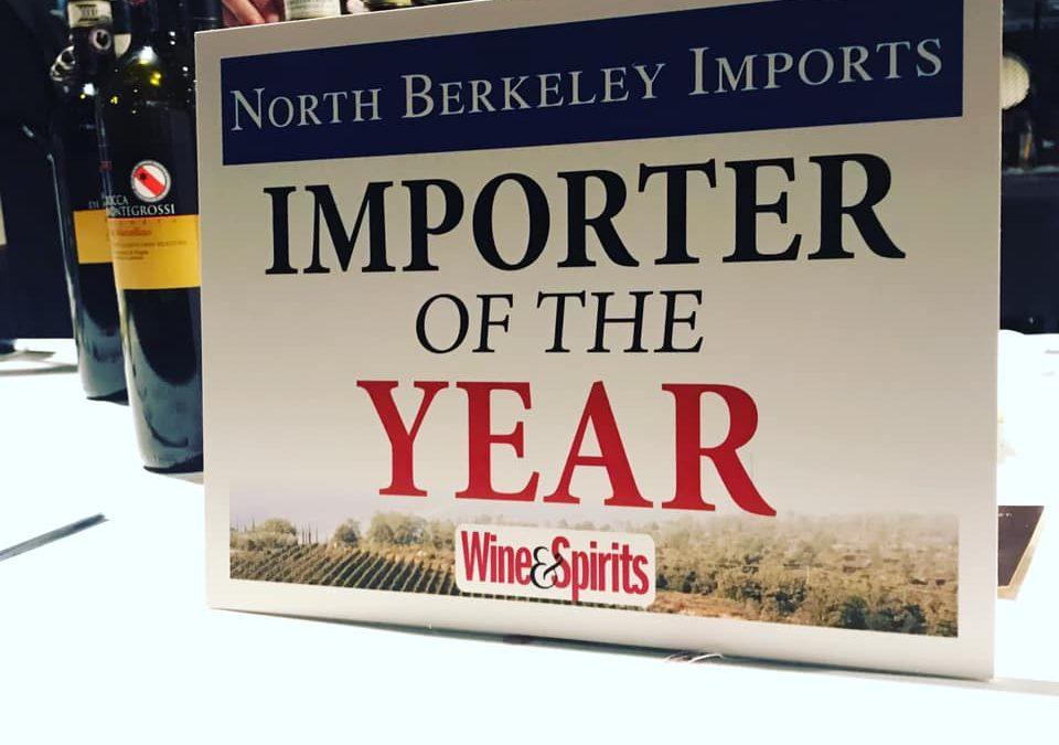 "Wine & Spirits Names North Berkeley ""Importer of the Year"""